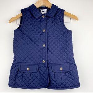 GYMBOREE Quilted Girls Blue Vest M